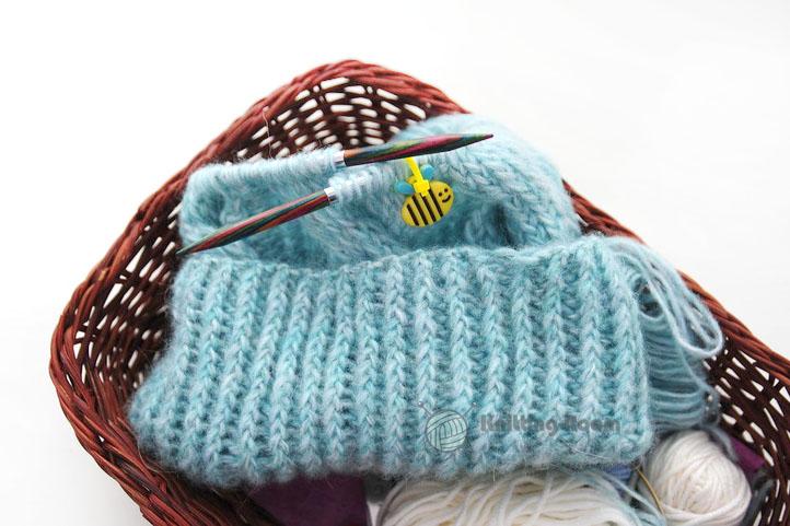 Убавление петель при вязании шапки