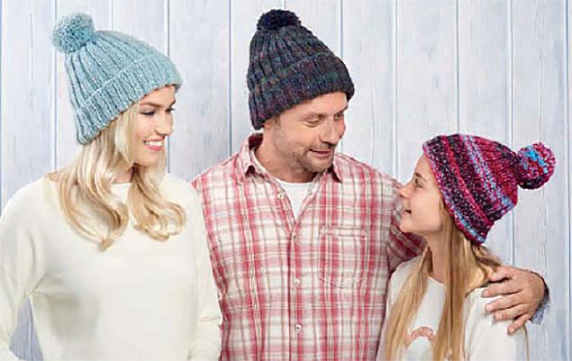 Универсальная шапка спицами для взрослых и детей bd4eaeb98eb60