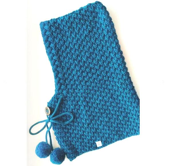 капюшон спицами описание вязания