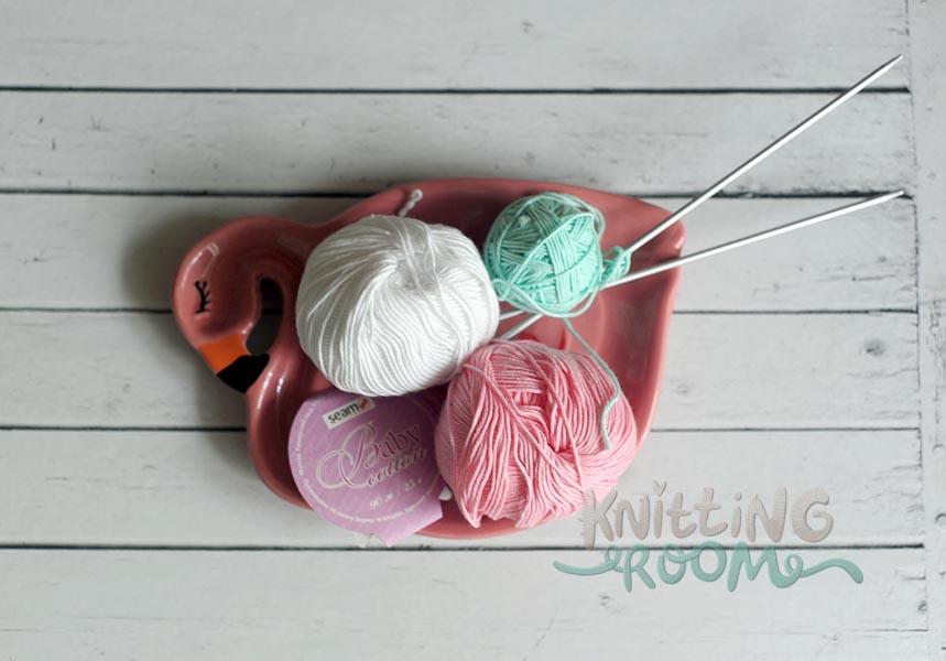 вязание пера спицами