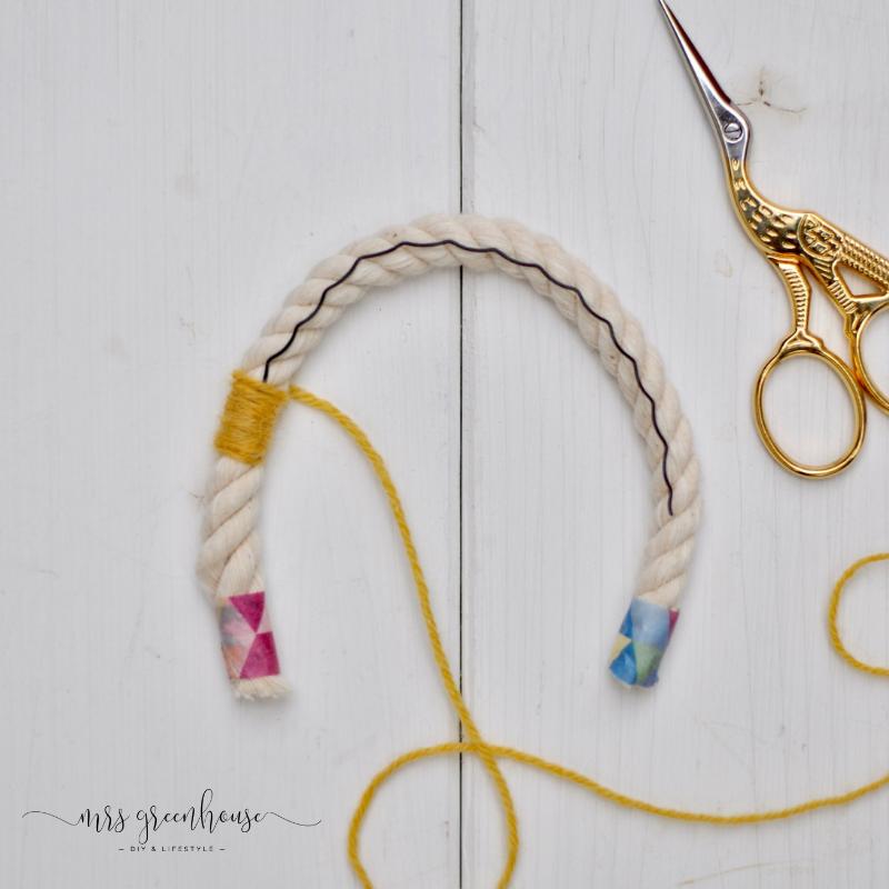 Как сделать радугу из ниток