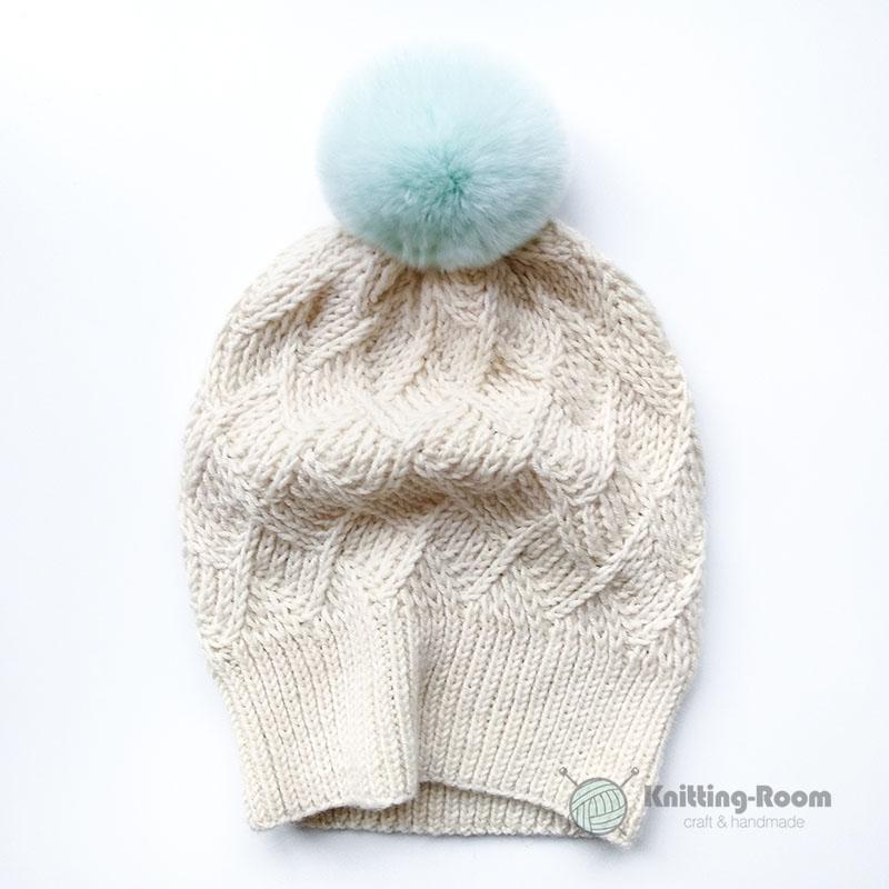 шапка спицами бесплатное описание вязания