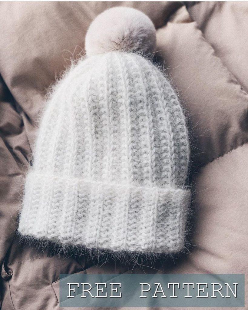 шапка из пуха норки описание вязания бесплатно