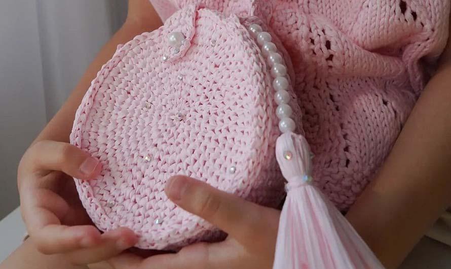 Детская сумочка из рафии