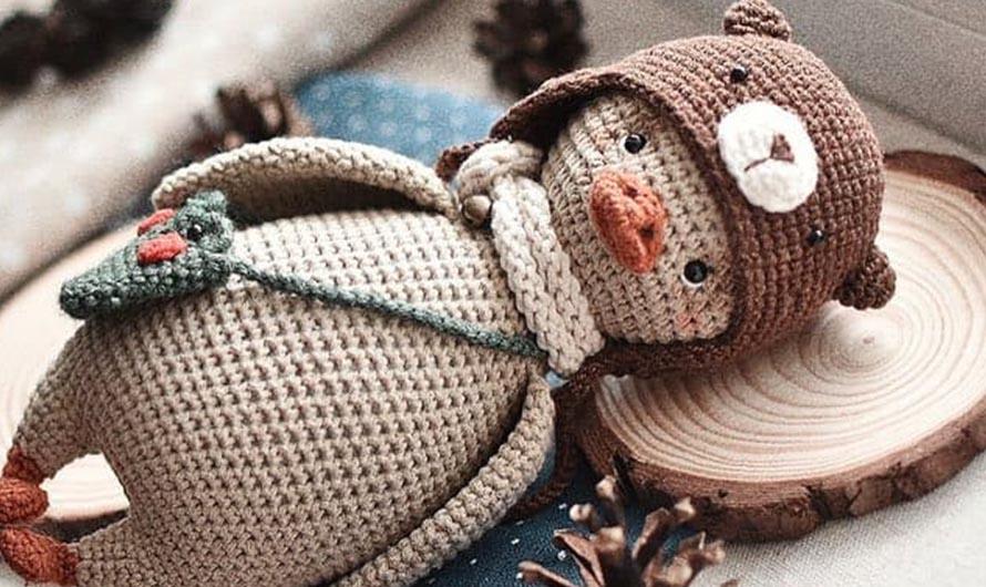 Шапка-медвежонок для игрушки