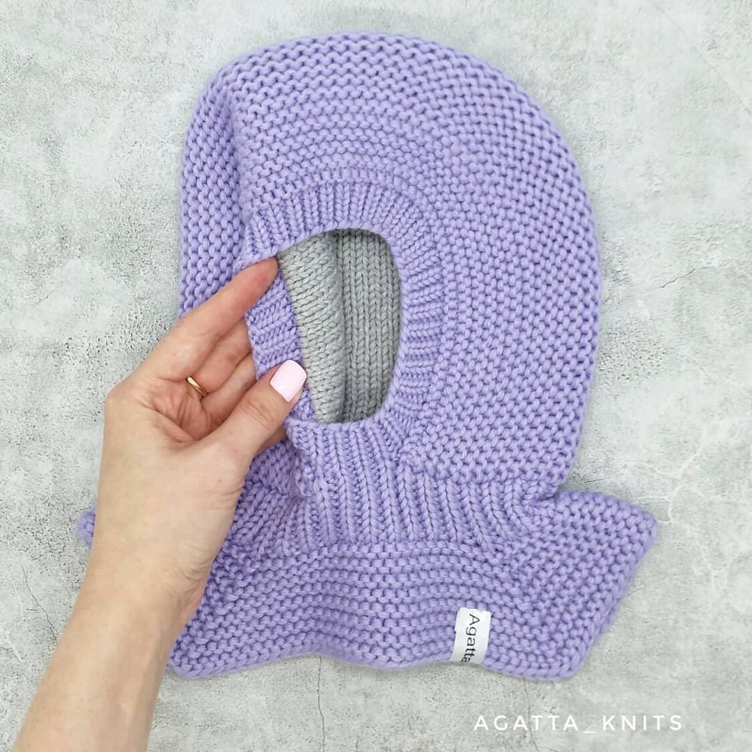 Шапка-шлем с подкладом